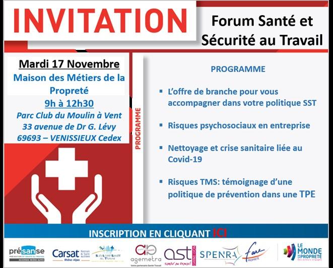 Forum régional Santé Sécurité au Travail métiers de la propreté